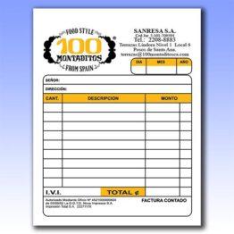 Blocks de formularios a un cuarto de hojas carta