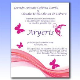 Invitación impresa full color
