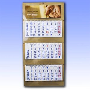 Calendario de 3 cuerpos en impresion digital