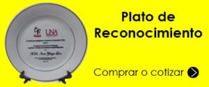 Plato estampado full color
